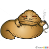 How to Draw Jabba, Chibi Star Wars