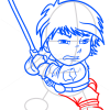 How to Draw Luke Skywoker, Chibi Star Wars