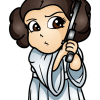 How to Draw Princess Leya, Chibi Star Wars