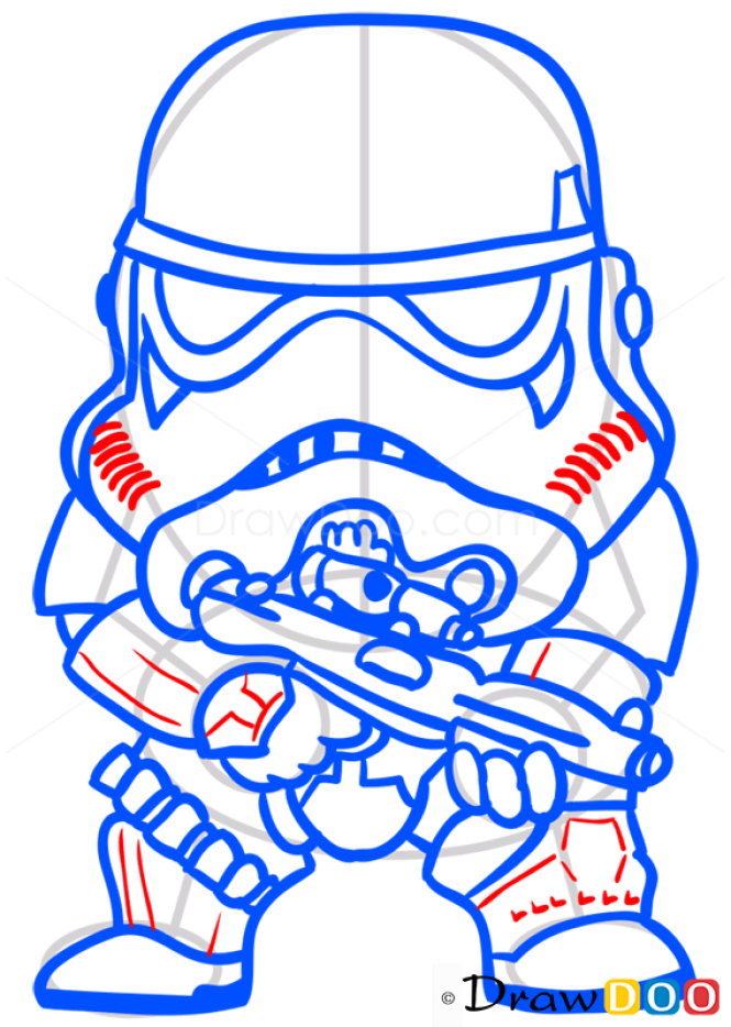 How to Draw Stormtrooper, Chibi Star Wars