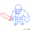 how to draw clash of clans simbil