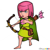 How to Draw Archer, Clash of Clans