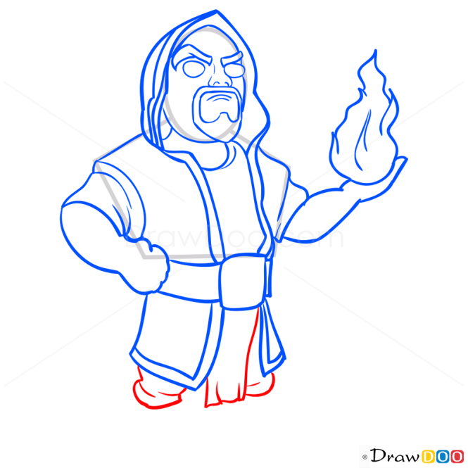 How to Draw Wizart, Clash of Clans