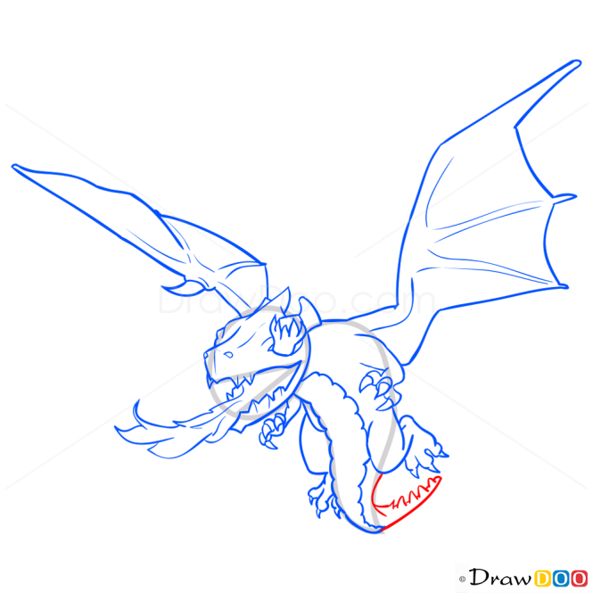 How to Draw Dragon, Clash of Clans