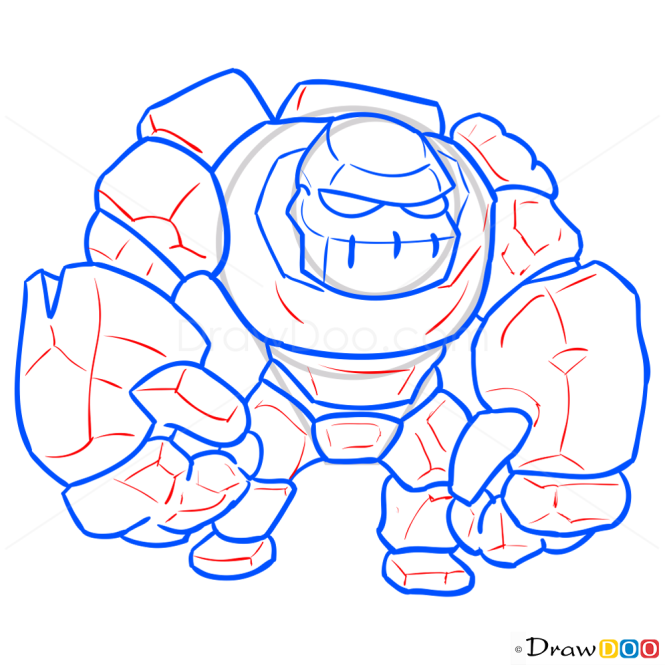 How to Draw Golem, Clash of Clans