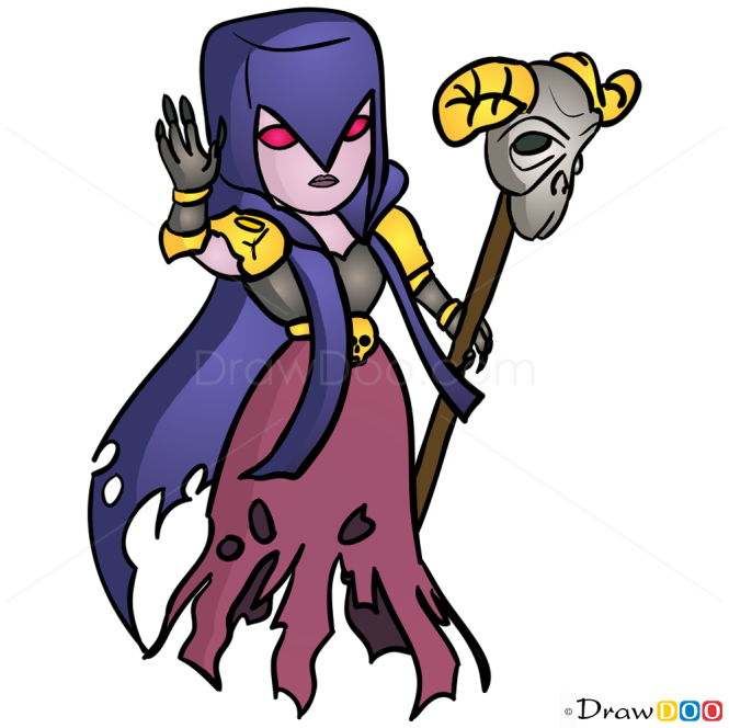 How to Draw Witch, Clash of Clans
