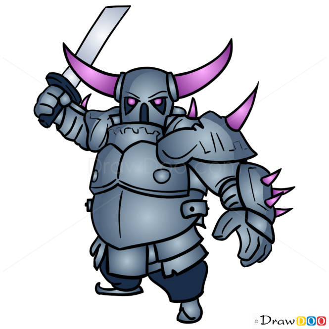 How To Draw P.E.K.K.A, Clash Of Clans