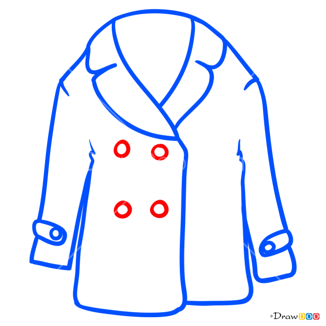 How to Draw Sheepskin Coat, Clothes