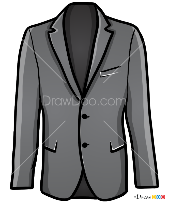 How to Draw Jacket, Clothes