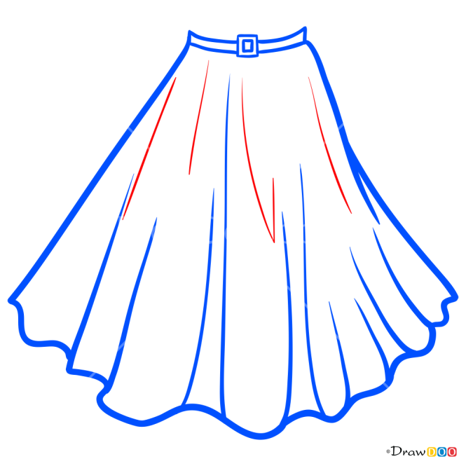 How to Draw Skirt, Clothes