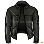 How to Draw Leather Jacket, Clothes