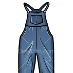 How to Draw Overalls, Clothes