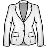 How to Draw Ladies Jacket, Clothes