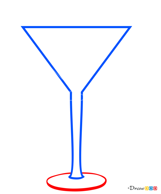 How to Draw Dry Martini, Coctails