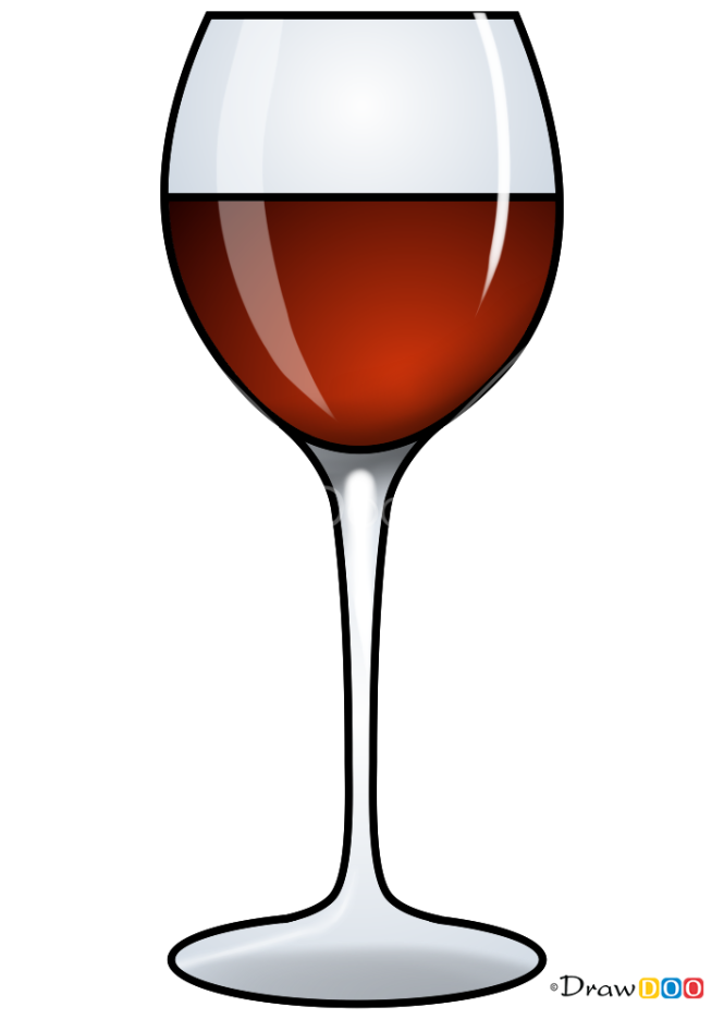 How to Draw Red Wine, Coctails