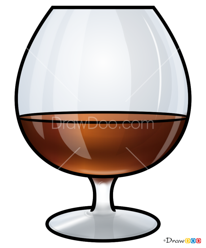 How to Draw Cognac, Coctails