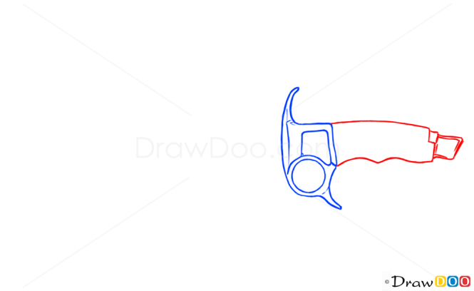 How to Draw Hunting Knife, Cold Arms