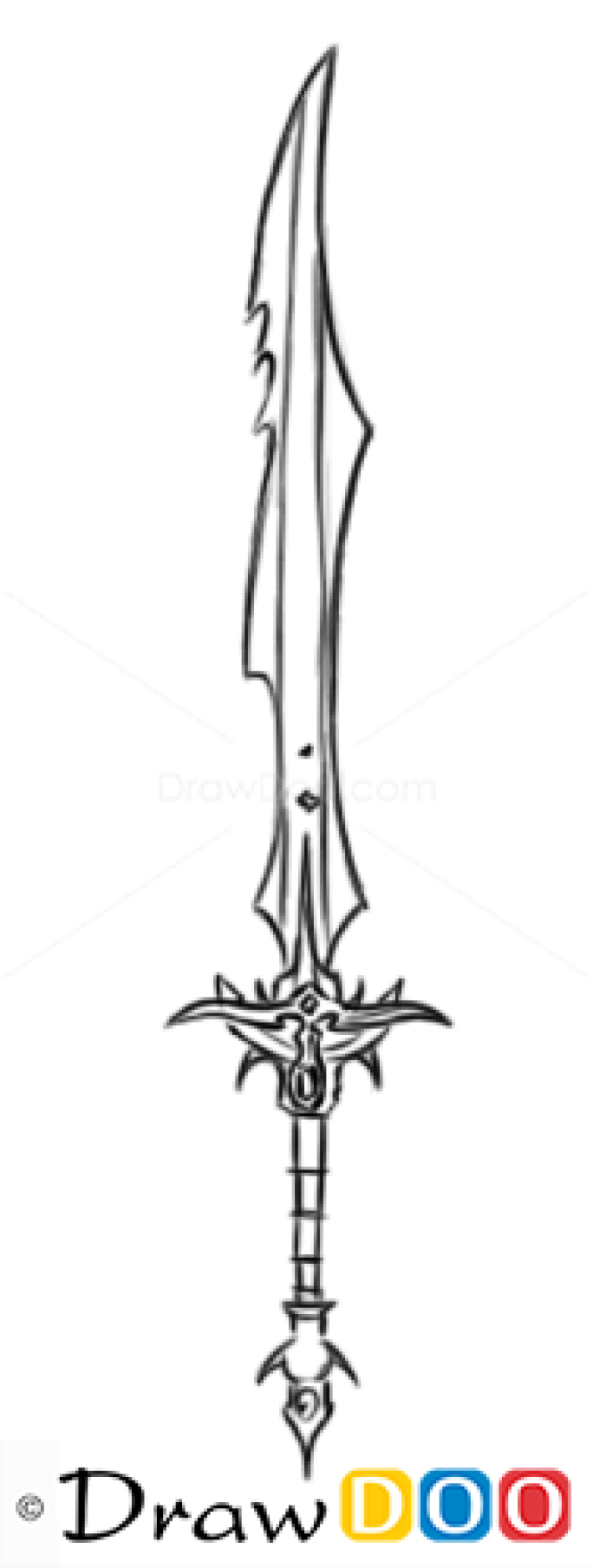 How To Draw Knight Sword Cold Arms