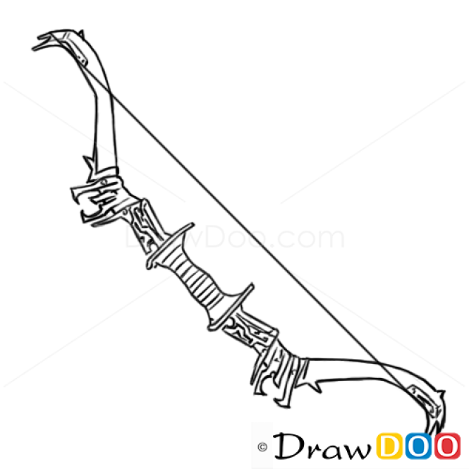 how to draw bow cold arms