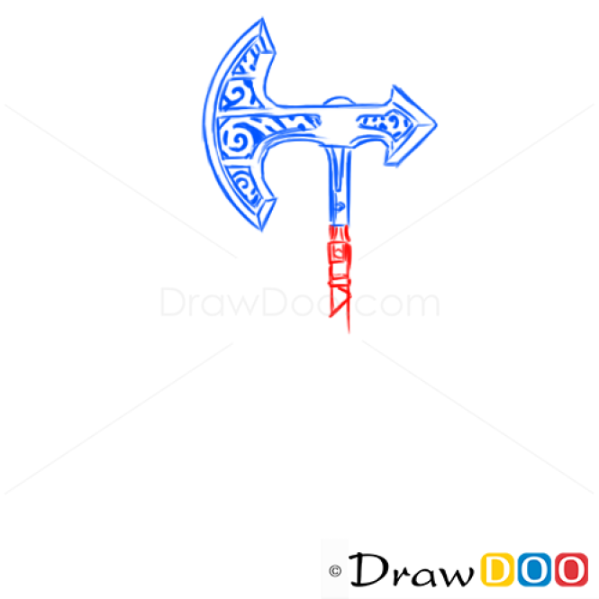 How to Draw Skyrim Game Axe, Cold Arms