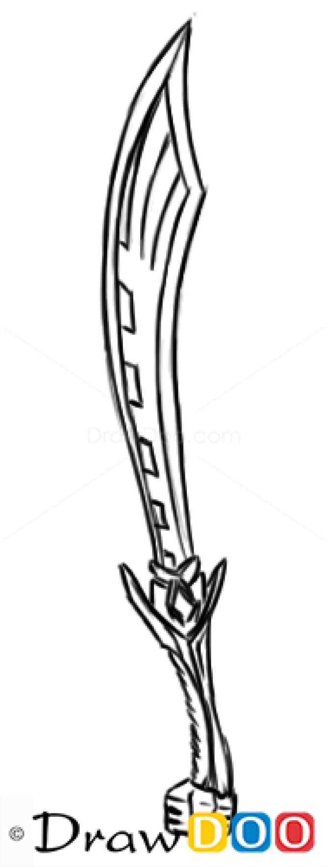 How to Draw Warhammer Game Sword, Cold Arms