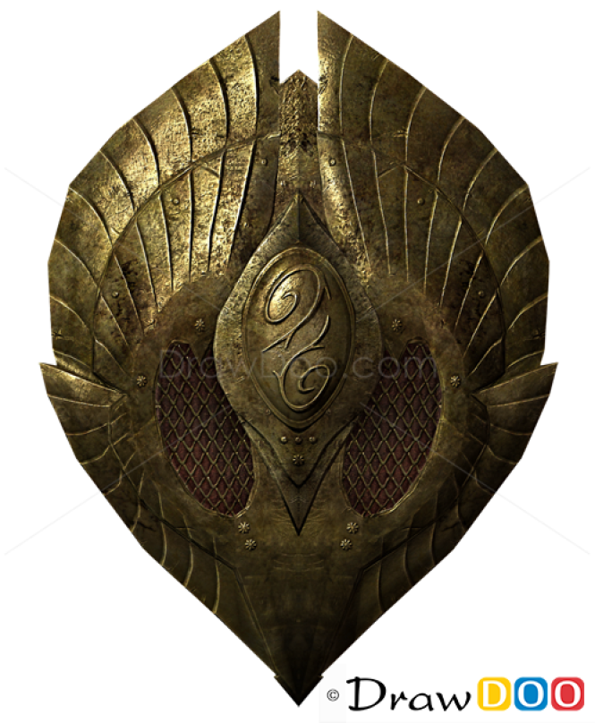 How to Draw Bronze Shield, Cold Arms