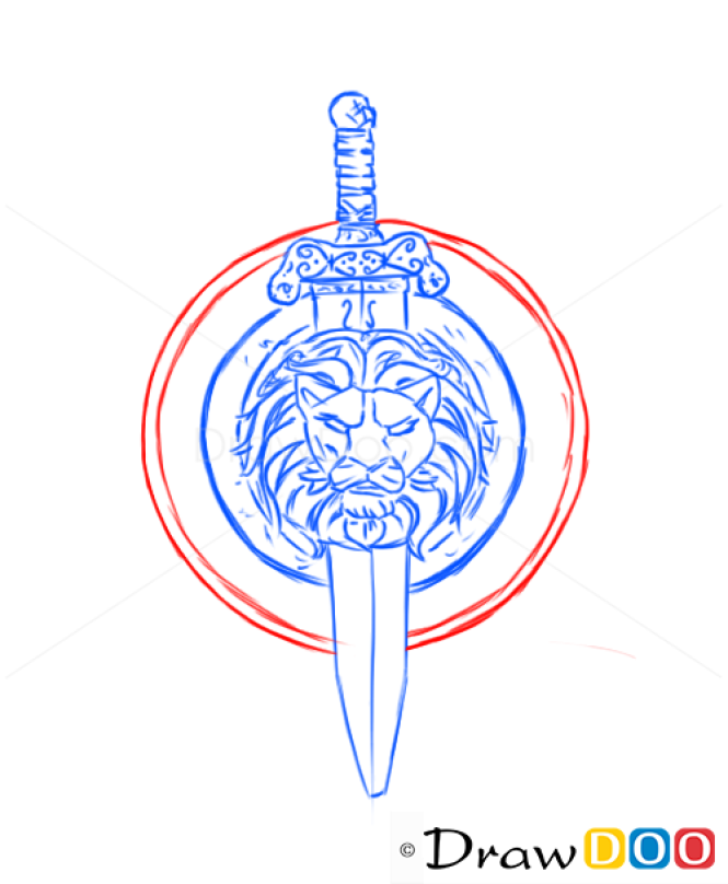 How to Draw Shield and Sword, Cold Arms
