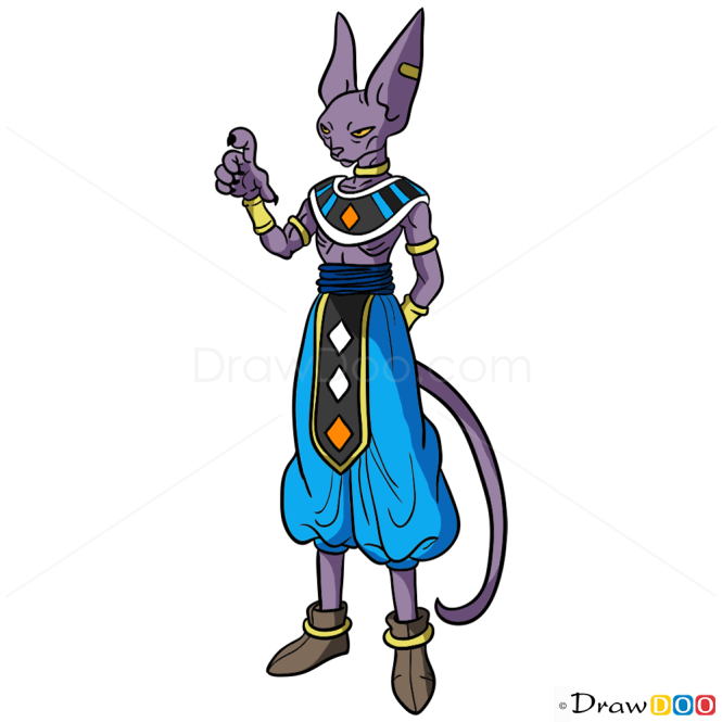 How To Draw Beerus Dragon Ball Z