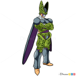 How to Draw Cell, Dragon Ball Z