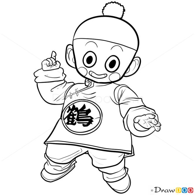 How To Draw Chiaotzu Dragon Ball Z