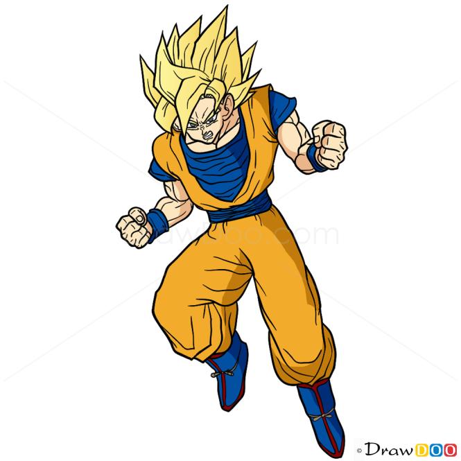 How To Draw Goku Dragon Ball Z