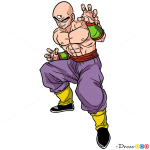 How to Draw Tien, Dragon Ball Z