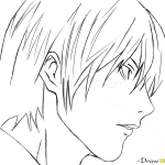 How to Draw Easy Yagami Kira, Death Note