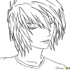 How to Draw Easy, L Lawliet, Death Note