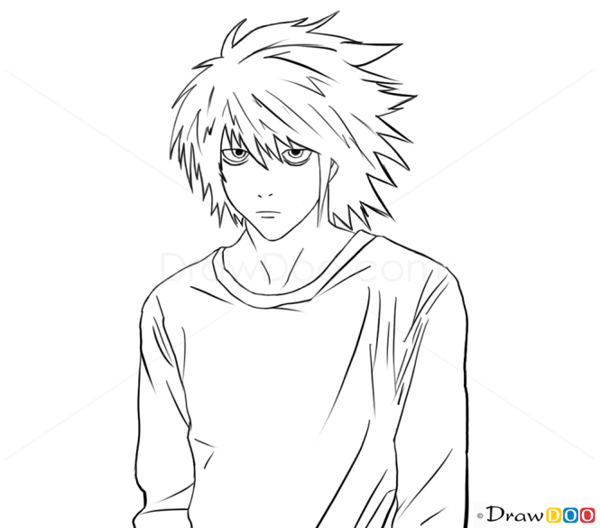 How To Draw L Lawliet Death Note