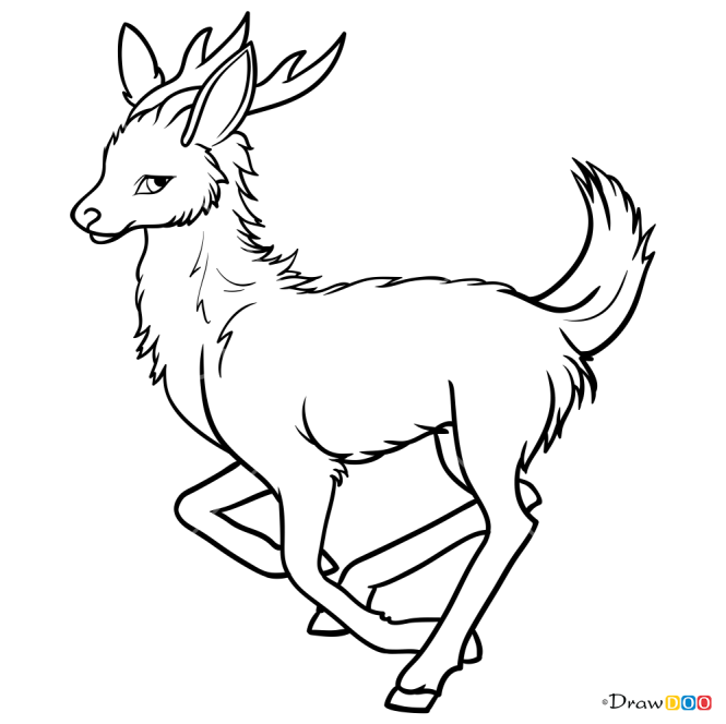 How to Draw Anime Deer, Deer