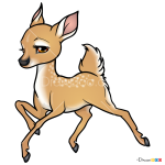 How to Draw Cartoon Deer, Deer