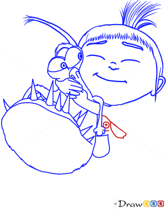 How to Draw Agnes and Kyle, Despicable Me