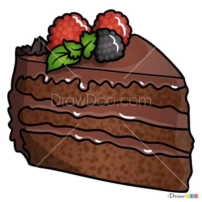 How to Draw Choco Cake, Desserts