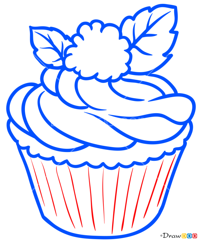 How to Draw Cupcake, Desserts