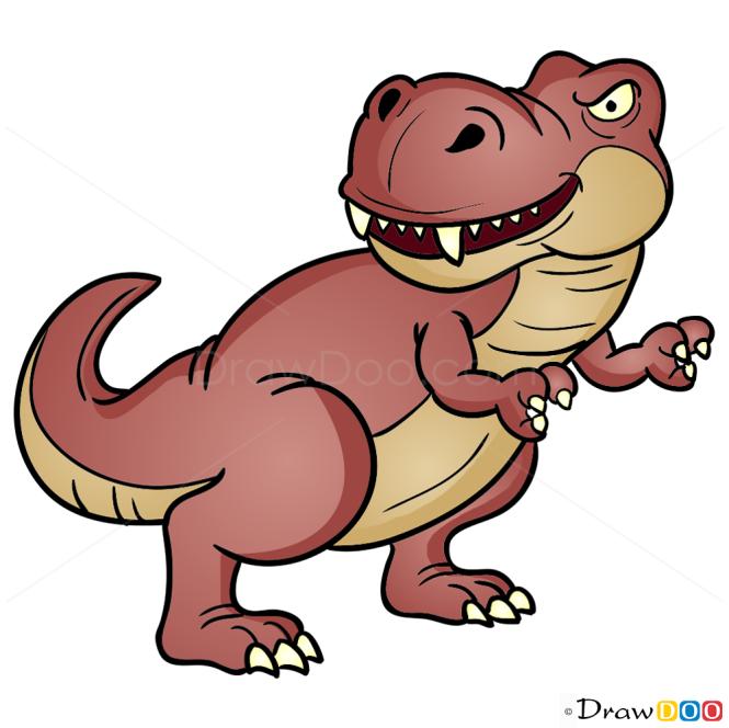 How to Draw Tyrannosaurus, Dinosaurus