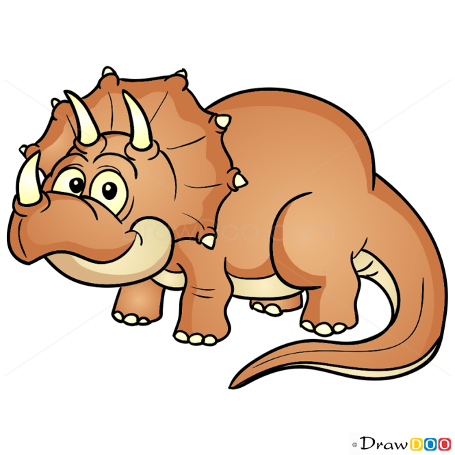 How To Draw Triceratops Dinosaurus