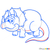 How to Draw Triceratops, Dinosaurus