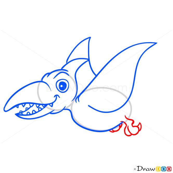 How to Draw Ramforinh, Dinosaurus