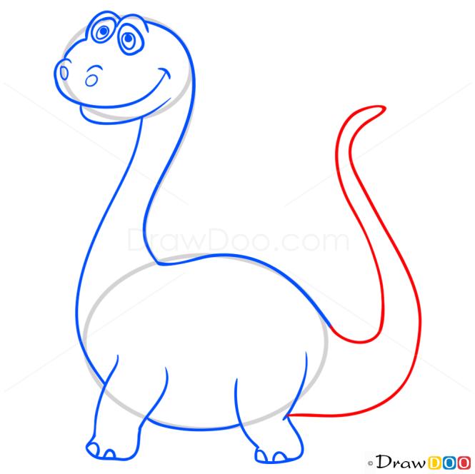 How to Draw Sauropod, Dinosaurus