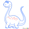 How to Draw Sauropod, Dinosaurus