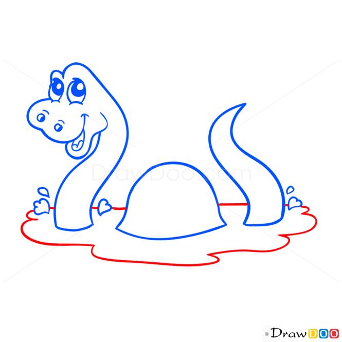 How to Draw Plesiosaur, Dinosaurus