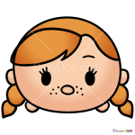 How to Draw Anna, Disney Tsum Tsum