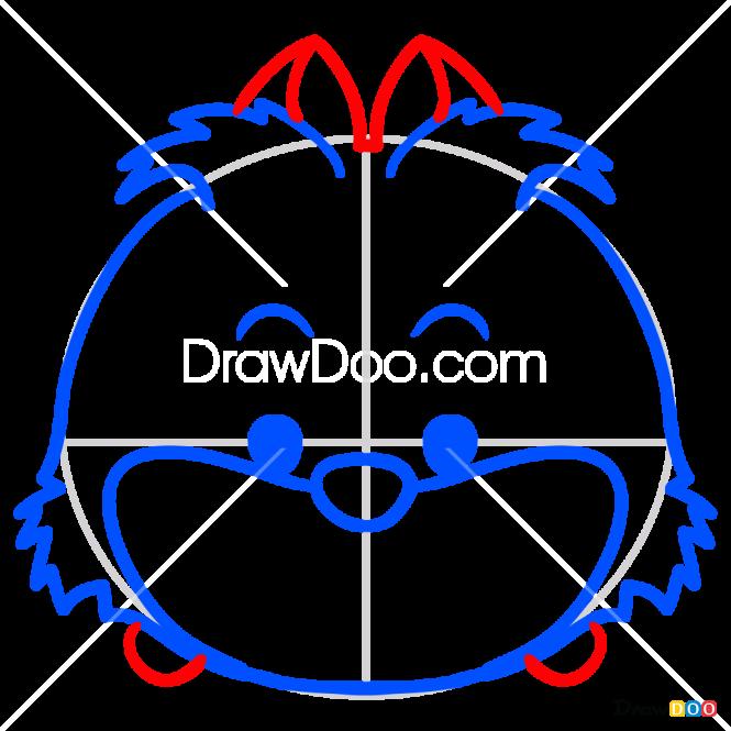 How to Draw Cheshire Cat, Disney Tsum Tsum