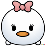 How to Draw Daisy Duck, Disney Tsum Tsum
